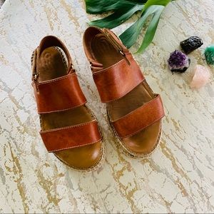 Maypol Anthropologie  Leather Espadrille Sandals